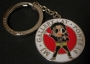 Michael Jackson 'Gallery At Ponte 16' Official 'Dangerous' Red Enamel Keyring (Macao)