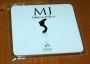 Michael Jackson 'MJ Gallery At Ponte 16' 'Michael's Black Silhouette On Toes' White Coaster (Macao)