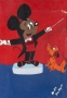 Michael Jackson Acrylic Painting Of Mickey Mouse