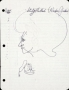 "Michael Jackson Drawings Titled ""Study Methods (Michael Jackson)"" (1973)"