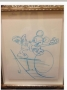 Michael Jackson *Mickey Mouse Pitcher* Handmade Drawing (USA)
