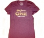 Michael Jackson *One* Show Official Purple Cotton T-Shirt With Glittery Logo For Women (USA)