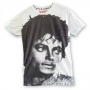Michael Jackson Official *House Of The Gods* Womens White T-Shirt (UK)