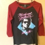 Michael Jackson Forever 21 'Beat It' Women Baseball Red Shirt (USA)