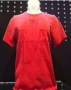 Michael Jackson *One* Show Official Red Flocked Initials 'MJ' T-shirt (USA)