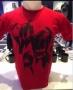 Michael Jackson *One* Show Official Men Red Dancing Feet T-shirt (USA)