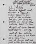 Michael McKeller Handwritten Lyrics (Date Unknown)