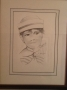 Michael Jackson Signed Drawing Called 'Boyhood' (USA)
