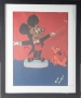 Mickey Mouse & Plute Artwork Made By Michael And Signed As Mike Jackson (USA)