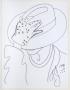 Moonwalk Book Self Portrait Original Ink Drawing (1988)