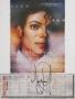 "Moonwalker Calendar Page ""December"" Signed By Michael (1989)"