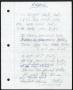 Morphine Handwritten Working Lyrics #1 (1996)