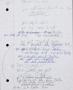 Morphine Handwritten Working Lyrics #4 (1996)