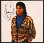 Multicoloured Cardigan Sweater Photo Signed By Michael (1987)