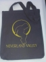 Neverland Valley Ranch Black Canvas Tote Bag (USA)