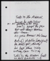 Nobody Home Today Unfinished Lyrics *Unrecorded* (Date Unknown)