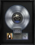 Off The Wall RIAA Platinum Award For The Sale Of 1,000,000 Copies Of LP/Cassette In USA