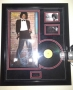 Off The Wall Signed LP Cover In Display (UK)