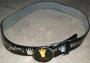 "Michael Jackson Official MJ ""Silver Glove"" Black Leather Belt (USA)"