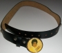 "Michael Jackson Official MJ ""Yellow Vest"" Black Leather Belt (USA)"