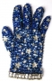 Blue Crystal Fantasy Glove With Silver Stars (1980's)