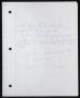 Innocent Man Partial Handwritten Lyrics #1 (1993)