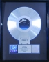 Victory RIAA Platinum Award For The Sale Of 1 Million Copies Of The LP/Cassette In USA