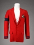 Red Linen Jacket Worn By Michael At The Opening Of The Magic Johnson Theater (1995)
