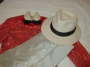 Red Sequined Shirt Worn at AMA 81 & White Fedora