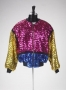 Sequin Jacket In Pink, Blue And Gold
