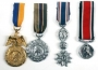 Set Of Four Military Style Medals
