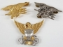 Set Of Gold And Silver Metal Eagle Pins