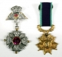 Set Of Two Military Style Medals