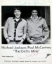 The Girl Is Mine Promotional Photo Signed By Michael And Paul McCartney (1982)