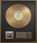 The Jacksons RIAA Gold Award For The Sale Of 500,000 Copies Of The LP In USA