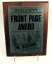 The Jacksons NY Daily News Front Page Award, 1984