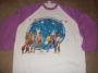 "The Jacksons Victory Tour 1984  White ""Baseball"" Shirt *Light Purple Sleeves* (USA)"