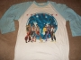 "The Jacksons Victory Tour 1984  White ""Baseball"" Shirt *Light Blue Sleeves* (USA)"
