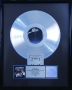 """The Jacksons """"Live"""" RIAA Platinum Award For The Sale Of 1 Million Copies Of The LP/Cassette In USA."""