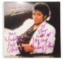 Thriller Album Signed And Inscribed By Michael Jackson *To Steve* (1982)