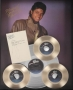 Thriller Display with Note Signed by Michael (1984)