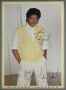 """Thriller Era """"Yellow Vest"""" Promo Poster Double Signed By Michael (1983)"""