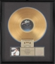 Thriller RIAA Gold Award For The Sale Of 500,000 Copies Of The Album In USA