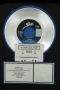 """Thriller RIAA Platinum Award For The Sale Of 1 Million Copies Of 7"""" Single In USA"""