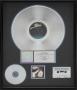 Thriller RIAA Platinum Award For The Sale Of 1,000,000 Copies Of The Album In USA