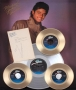 Thriller Signed Gold Singles Display Presented To Humberto Gatica (1983)
