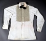Triumph Tour White Cotton Shirt By Pierre Cardin Wiith Black Bow Tie (1981)