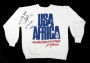 USA For Africa White Sweatshirt Signed By Michael (1985)