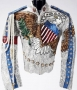 United We Stand Silver Satin Jacket With Crystals (2001)