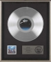Victory RIAA Platinum Award For The Sale Of 1 Million Copies Of The LP In USA (To Rock Heroes)